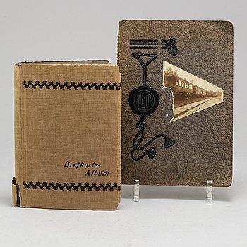 MIA GREEN, fotografier brevkortsalbum och fotoalbum bilder från Haparanda första världskriget daterade 1915.