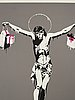 """Banksy, """"christ with shopping bags""""."""