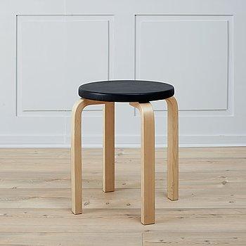 A model 60 stool by Alvar Aalto, Artek.