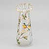 Theodore legras, ascribed an art nouveau handpainted glass vase