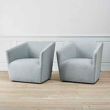 A pair of 'Occasioal Lounge chairs' by Jasper Morrisson, Vitra.