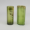 Theodore legras, ascribed a set of two handpainted glass vases around 1890.