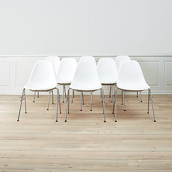 Eight 'DSS' easy chairs by Charles & Ray Eames, Vitra.