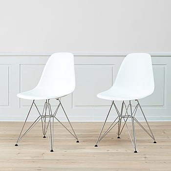 A pair of 'DSR' easy chairs by Charles & Ray Eames, Vitra.