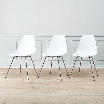 Three 'DSX' chairs by Charles &Ray Eames, Vitra.