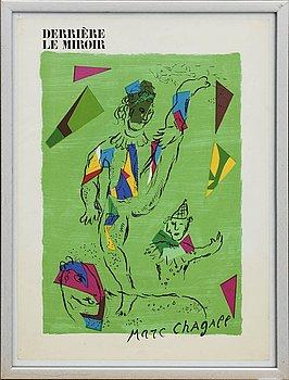 MARC CHAGALL, färglitografi, omslag till Derrière le Miroir nr 235 1979.