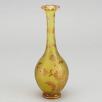 ST LOUIS, vas Art Nouveau signerad vas glass ca 1890-1900.