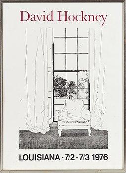 DAVID HOCKNEY, utställningsaffisch.