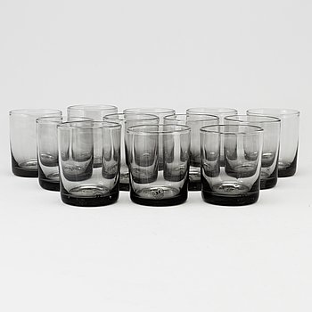 "Twelve waterglasses model ""Antik"" Reijmyre Glasbruk."