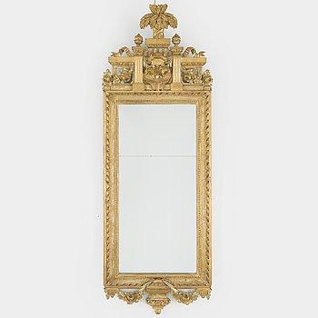 A Gustavian mirror, probably Gothenburg. Late 18th century.