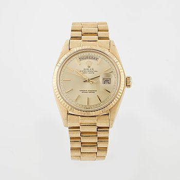 ROLEX, Oyster Perpetual, Day-Date, Chronometer, armbandsur, 36 mm.