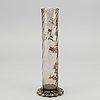 Emile gallÉ, an 1880/90's signed enameled glas vase.