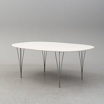 "BRUNO MATHSON/PIET HEIN, matbord, ""Superellips"", Fritz Hansen, Danmark, 1900-talets andra hälft."