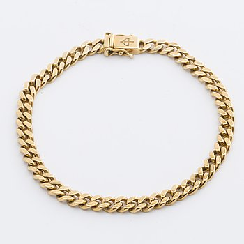 BRACELET 18K guld, 25,5 g, approx width and length 20 cm and 0,5 cm.