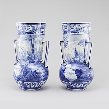 A pair of vases from Gustavsberg, ca 1900.