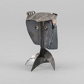 WALTER BENGTSSON, skulptur, sterling silver, monogramsignerad WB, numrerad 17/50, Halmstad 1958.