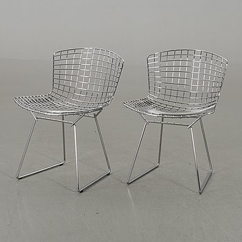 "HARRY BERTOIA, stolar, ett par, ""Side chair"", Knoll."