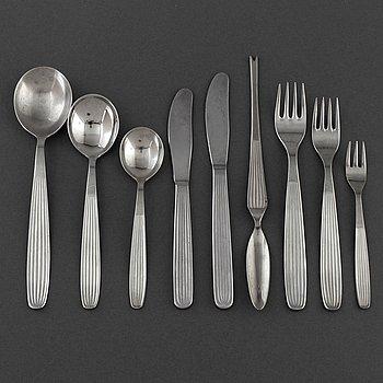 A 78 piece steel flatware service, 'Ideal', Kaj Franck, Hackman, 1950s.