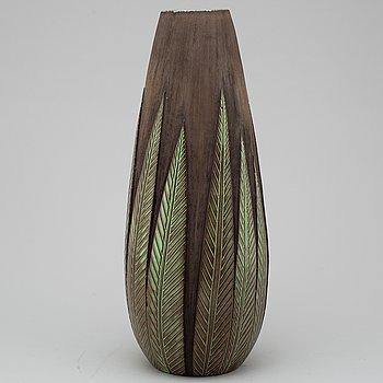 """ANNA-LISA THOMSON, vas, lergods, """"Paprika"""", Upsala Ekeby, 1900-talets andra hälft."""
