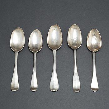 SKEDAR, 5 st, silver, 1700-tal.