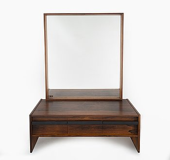 A mirror with a chest of drawer from Ateljé Glas & Trä, mid 20th century.
