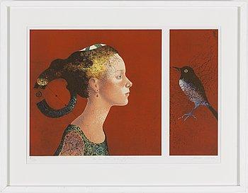 DORINA MOCAN, färglitografi, signerad och numrerad 161/270.