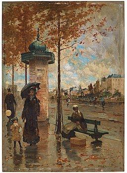 335. Wilhelm von Gegerfelt, Rainy skies over Paris.