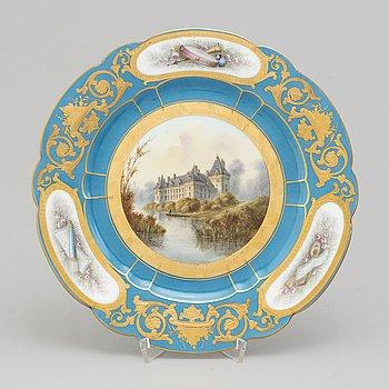 A 1860's Sevres porcelain plate.
