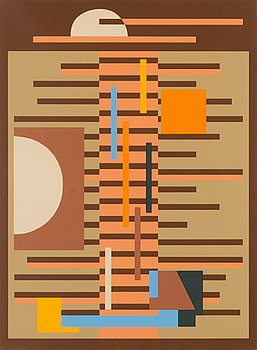 SAM VANNI, serigrafi, signerad och daterad -79, numrerad 21/75.