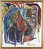 Erland cullberg, oil on canvas, signed e. cullberg