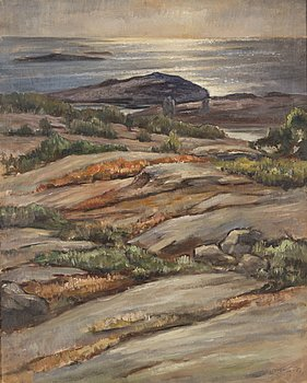 REINO HARSTI, oil on cancvas, signed and dated -51.