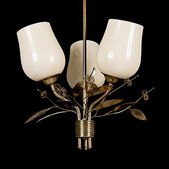 A ceiling light, manufactured by Itsu, Finland  1940s-1950s.