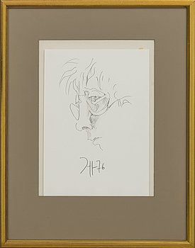 HORST JANSSEN, drawing signed and dated 76.