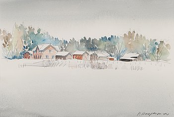 PAULIAUKUSTI HAAPANEN, watercolour, signed and dated -04.