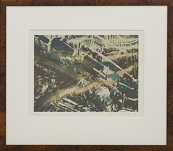 OLA BILLGREN, lithograph in colours signed dated and numbered -88 77/175.