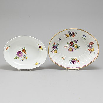 A set of two Meissen dishes, 18th Century.