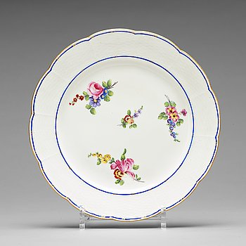 313. A set of 16 French 'Sévrès' marked plates, 19th century.