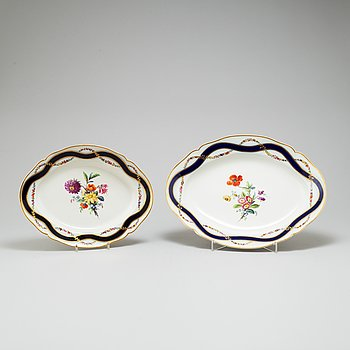 Two Berlin dishes, 19th Century.