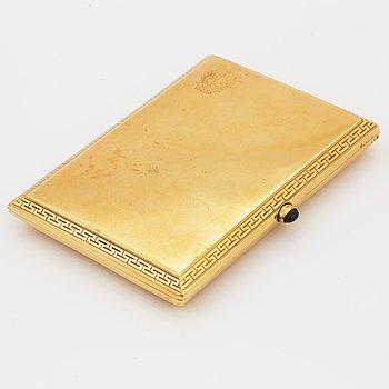 CIGARETTETUI, 18K guld.