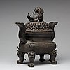 A bronze censer with cover, qing dynasty (1664-1912).