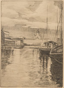 A. HAAPALA (LEONID KUZMIN), etching, signed and dated A. Haapala -36.