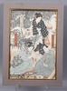 Toyokuni iii, träsnitt, 2 st. japan.