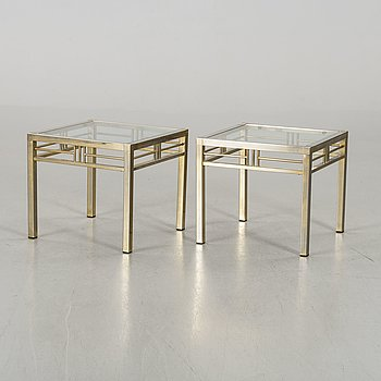 A PAIR OF SIDE TABLES, end of 20th century.