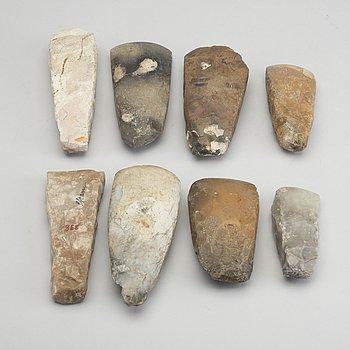 YXOR, 8 stycken, sannolikt neoliticum / neolitikum.