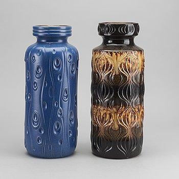GOLVVASER 2 st Väst-Tyskland 1960-tal keramik.