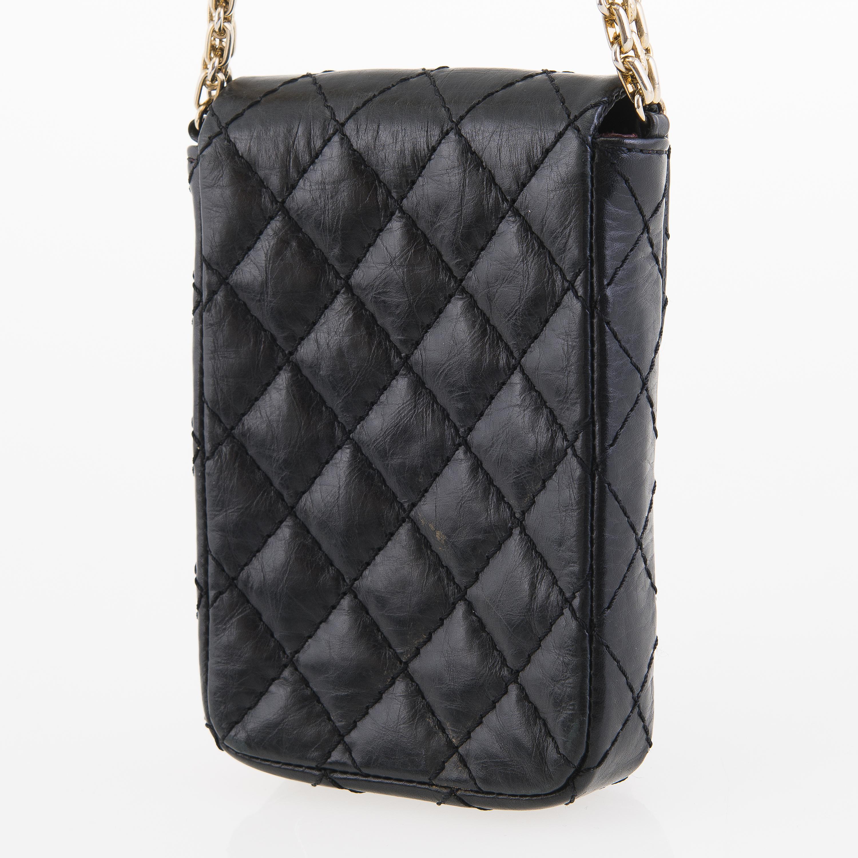 41a5306d7c1ca5 CHANEL Vintage Black Cell Phone Bag. - Bukowskis