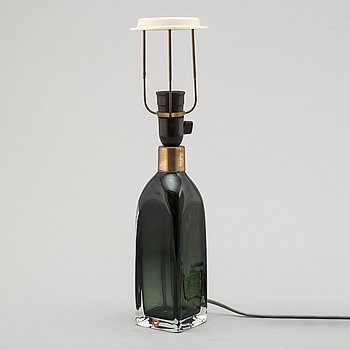 A second half of the 20th century glass table light by Carl Fagerlund for Orrefors.