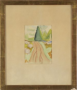 CARL KYLBERG, attributed, watercolour on paper, certified a verso.