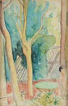 ISAAC GRÜNEWALD, akvarell, signerad och daterad -20.