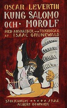 ISAAC GRÜNEWALD, mixed media on paper, 1922.